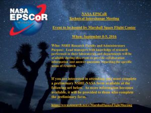 NV NASA Marshall Meeting Flyer