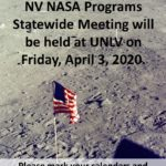 Save the Date! 2020 NV NASA Space Grant and NASA EPSCoR Statewide Meeting